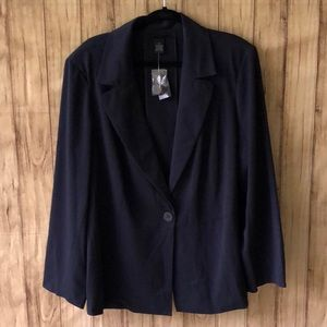 NWT Lane Bryant Plus Size Navy Blue Jacket Size 28